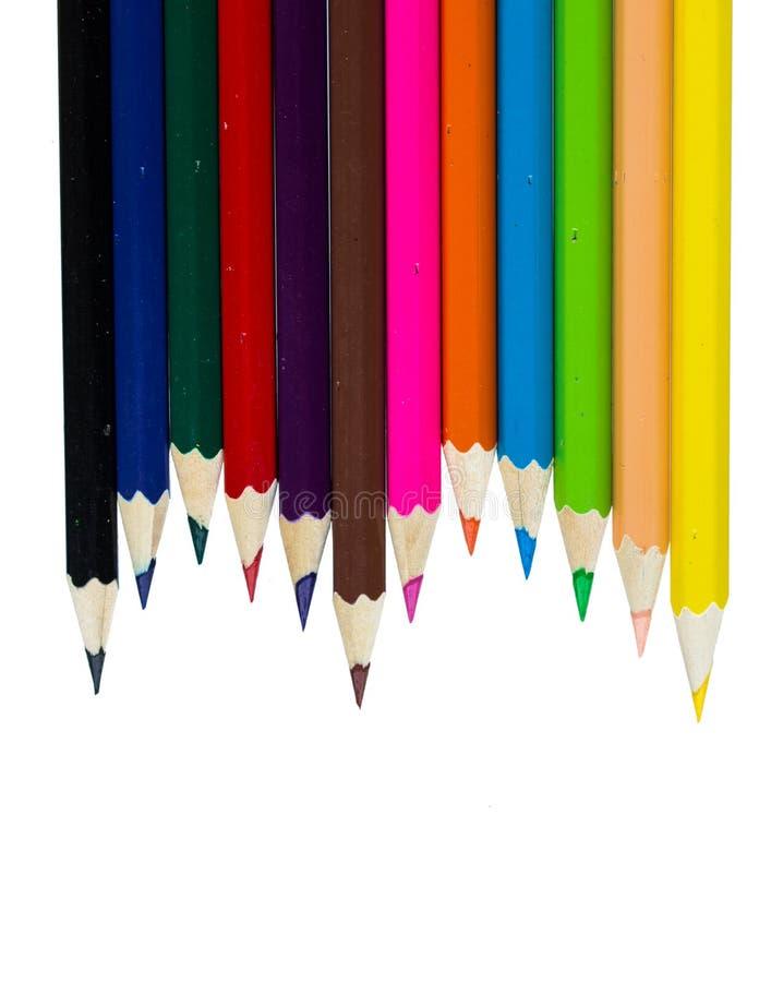 Fuentes de dibujo: lápices clasificados del color fotos de archivo
