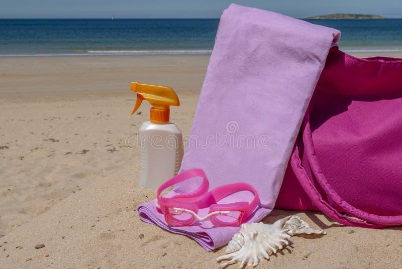 Fuentes de la playa fotografía de archivo libre de regalías