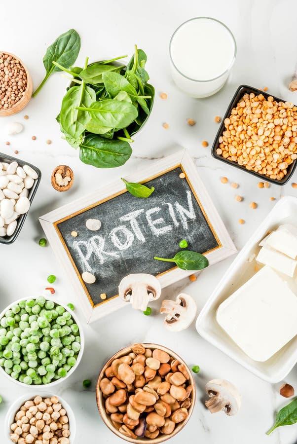 Fuentes de la proteína del vegano imagen de archivo libre de regalías