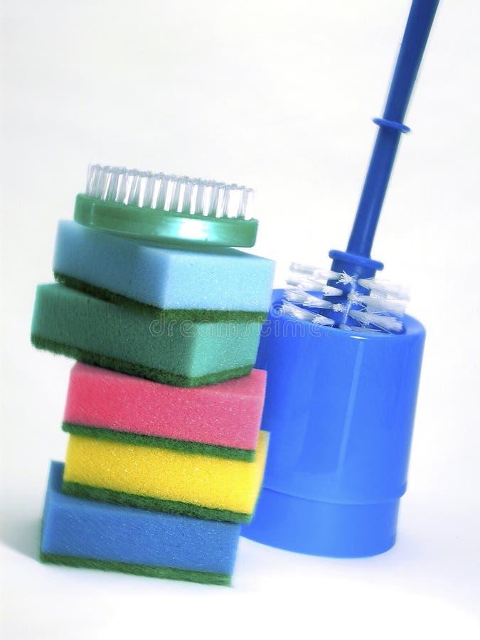 Fuentes de limpieza coloridas imágenes de archivo libres de regalías