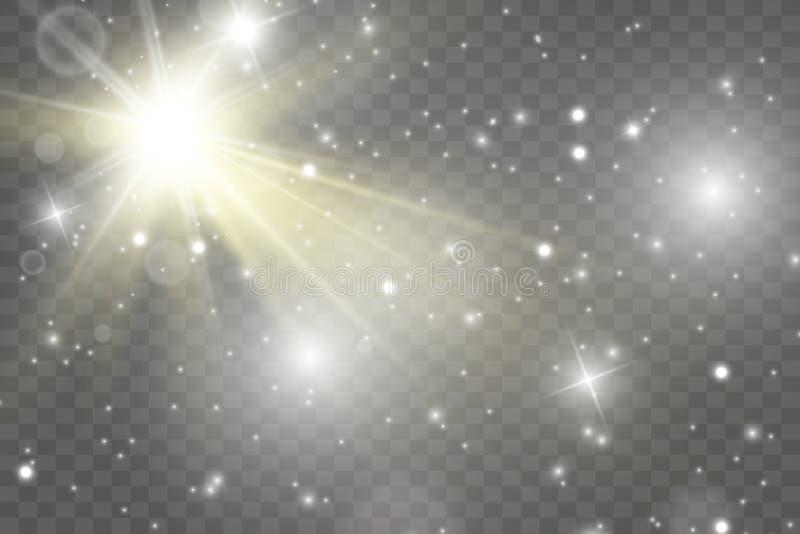 Fuentes de luz, iluminaci?n del concierto, proyectores Proyector del concierto con el haz libre illustration