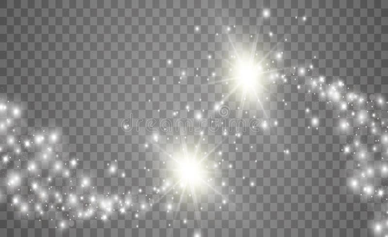 Fuentes de luz, iluminaci?n del concierto, proyectores Proyector del concierto con el haz stock de ilustración