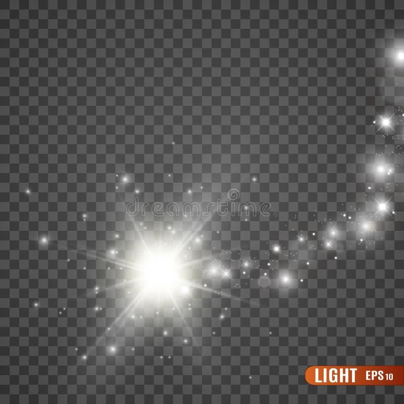 Fuentes de luz, iluminaci?n del concierto, proyectores Proyector del concierto con el haz ilustración del vector