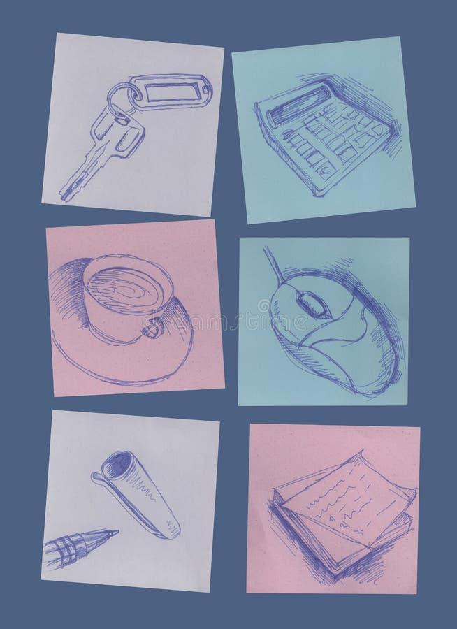 Fuentes de oficina imagen de archivo