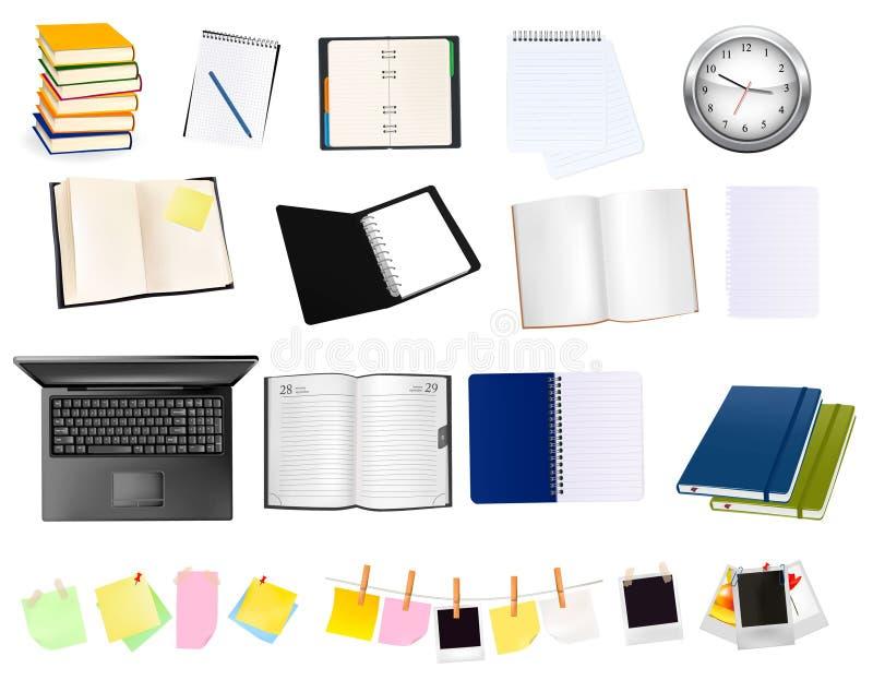 Fuentes del asunto y de oficina. Vector. ilustración del vector