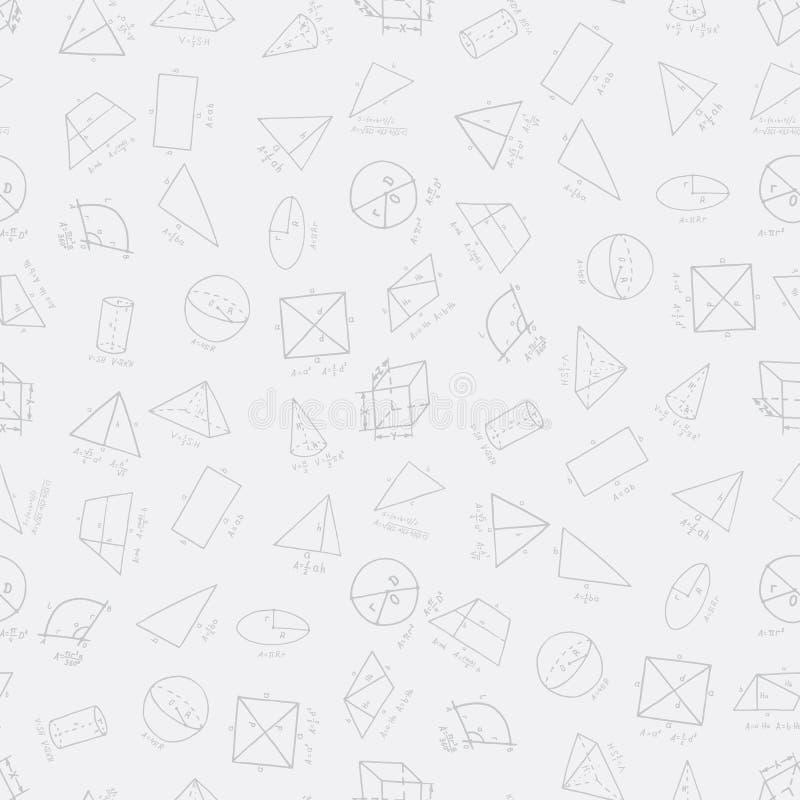 Fuentes exhaustas de la geometría de la mano en modelo inconsútil stock de ilustración