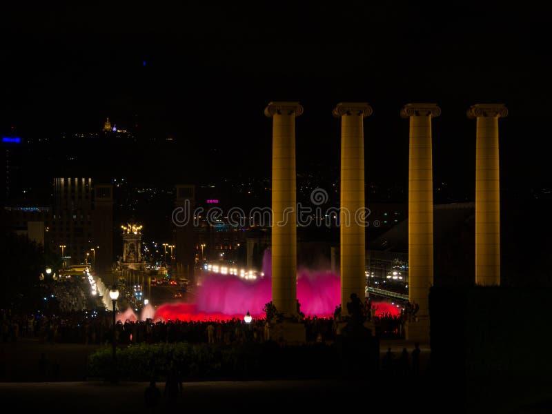Fuentes Magicas, Barcellona fotografia stock libera da diritti