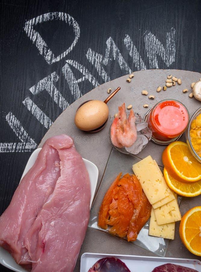Fuentes De La Comida De La Vitamina E Imagen de archivo..