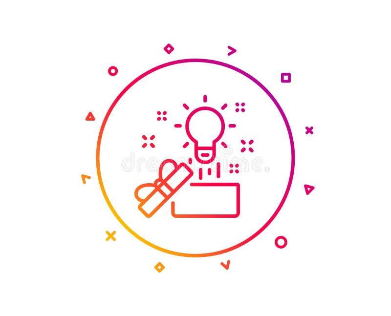 Fuera de la línea icono de la caja Muestra de la creatividad Vector ilustración del vector