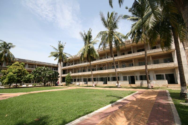 Fuera de una prisión anterior en Phnom Penh