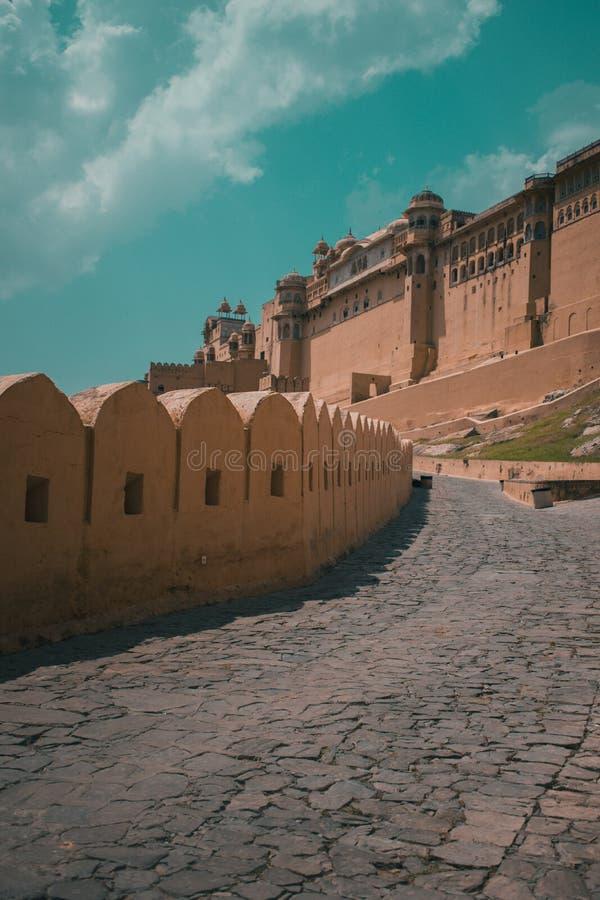 Fuerte ambarino Jaipur Rajasthán imagen de archivo