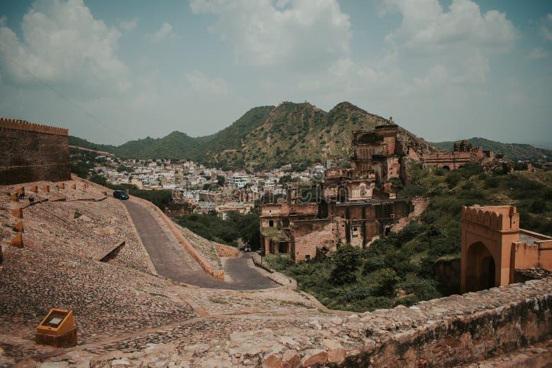 Fuerte ambarino Jaipur Rajasthán imagen de archivo libre de regalías