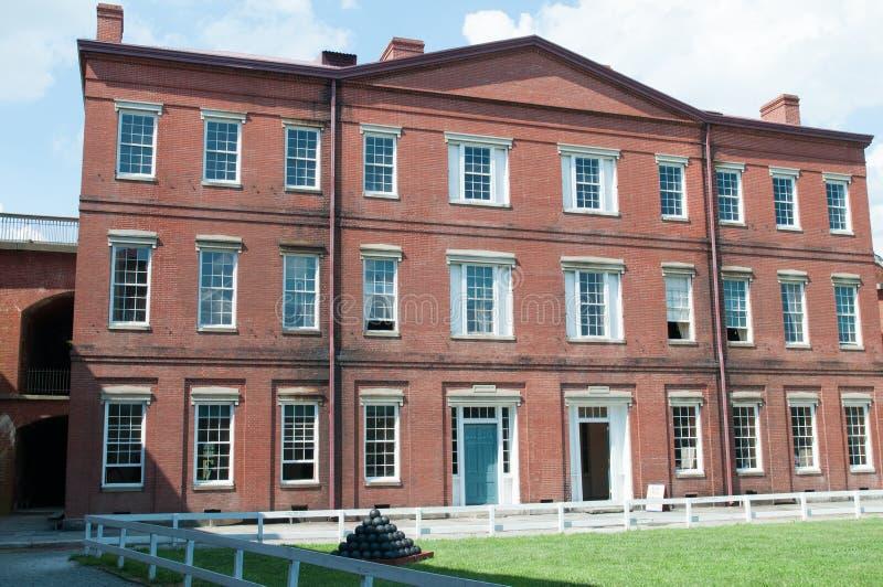 FUERTE CIUDAD DE DELAWARE, DELAWARE, DE - 1 DE AGOSTO: Parque de estado de Delaware del fuerte, fortaleza histórica de la guerra  fotografía de archivo libre de regalías