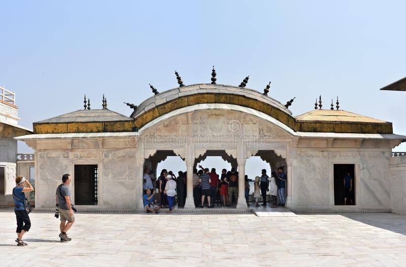 Fuerte de Agra del sitio del patrimonio mundial de la UNESCO foto de archivo libre de regalías
