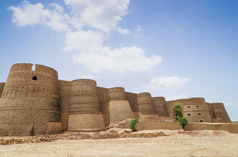 Fuerte de Derawar en Bahawalpur, Punjab, Paquistán imágenes de archivo libres de regalías
