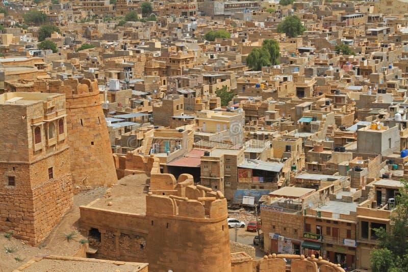 Fuerte de Jaisalmer en Rajasthán, la India imagenes de archivo