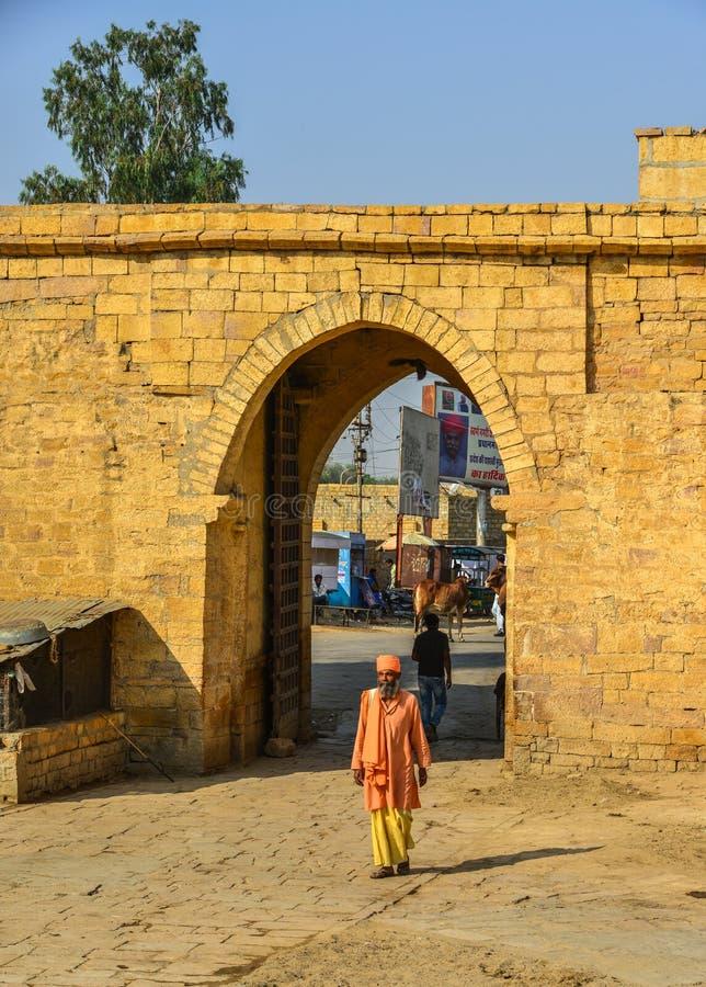 Fuerte de Jaisalmer en Rajasth?n, la India fotos de archivo