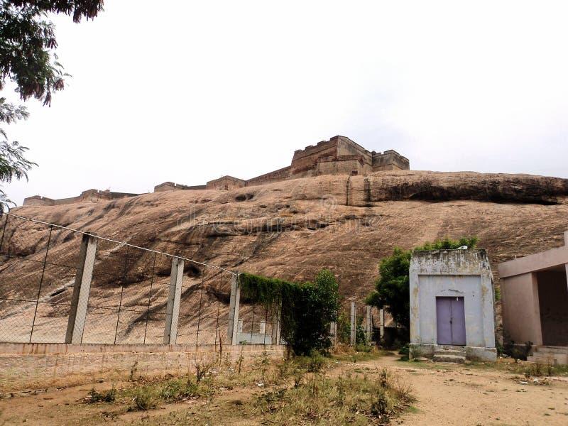 Fuerte de la roca de Dindigul fotos de archivo