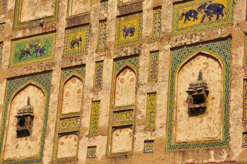 Fuerte de Lahore de la decoración del pabellón de Naulakha, Paquistán fotografía de archivo libre de regalías