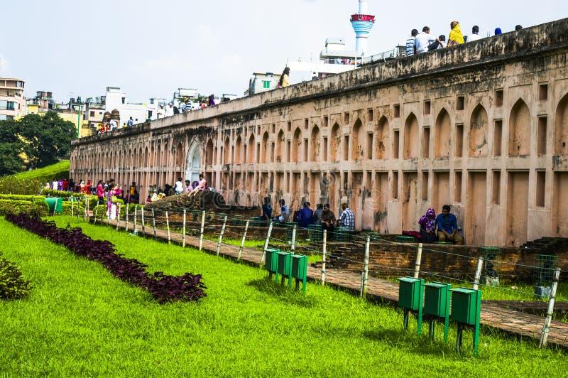 Fuerte de Lalbagh en Bangladesh fotografía de archivo