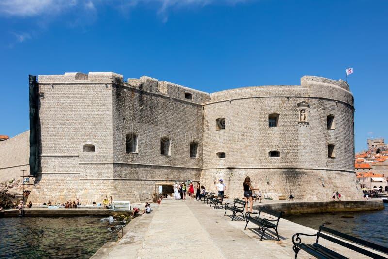 Fuerte de St John en Dubrovnik, Croacia, fotos de archivo