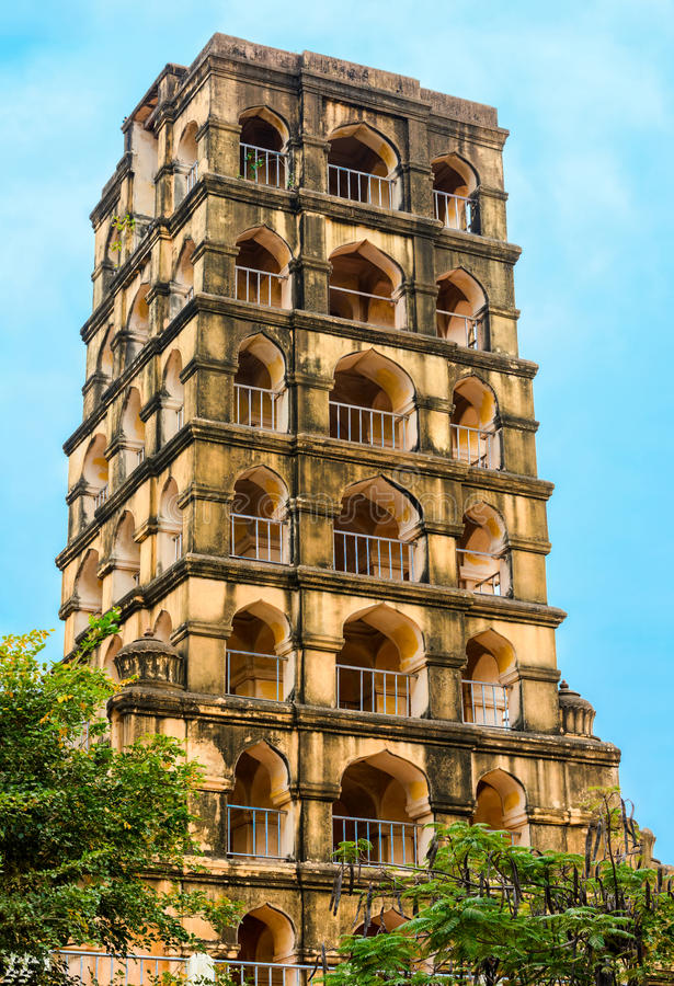 Fuerte de Vijaynagara del monumento histórico prominente Nayak de Tanjore fotografía de archivo