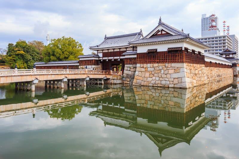 Fuerte del castillo de Hiroshima fotos de archivo