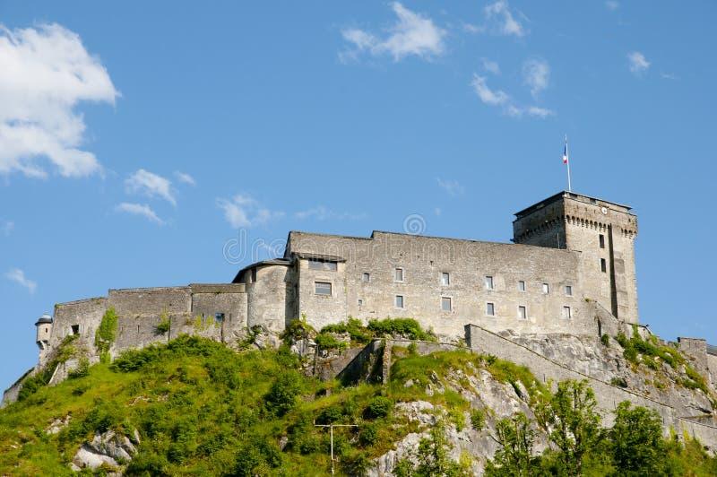 Fuerte del castillo francés de Lourdes - Francia imágenes de archivo libres de regalías