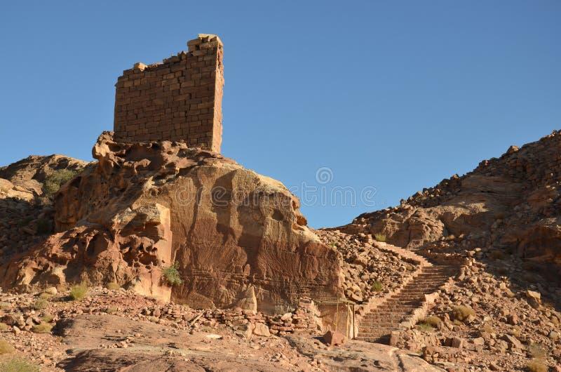 Fuerte del cruzado, Petra imagen de archivo