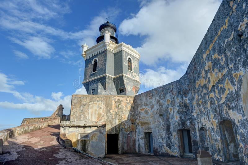 Fuerte del EL Morro San Juan, Puerto Rico foto de archivo