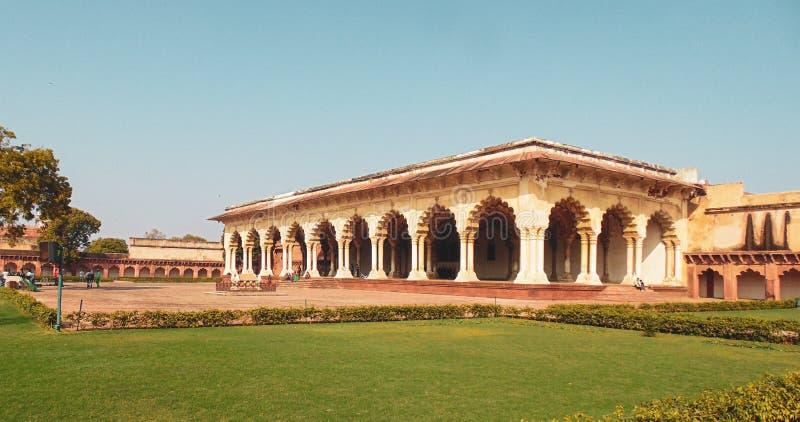 Fuerte histórico de Agra en Agra, la India imágenes de archivo libres de regalías