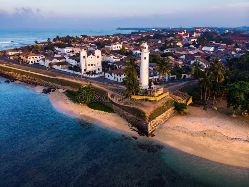 Fuerte holandés en la ciudad de Galle de la antena de Sri Lanka foto de archivo libre de regalías
