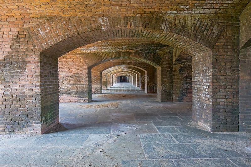 Fuerte Jefferson Archways de Front Side 6 imagen de archivo