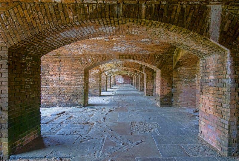 Fuerte Jefferson Archways Front Side 1 fotografía de archivo libre de regalías