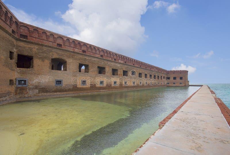Fuerte Jefferson Facade, Tortugas seco imagenes de archivo