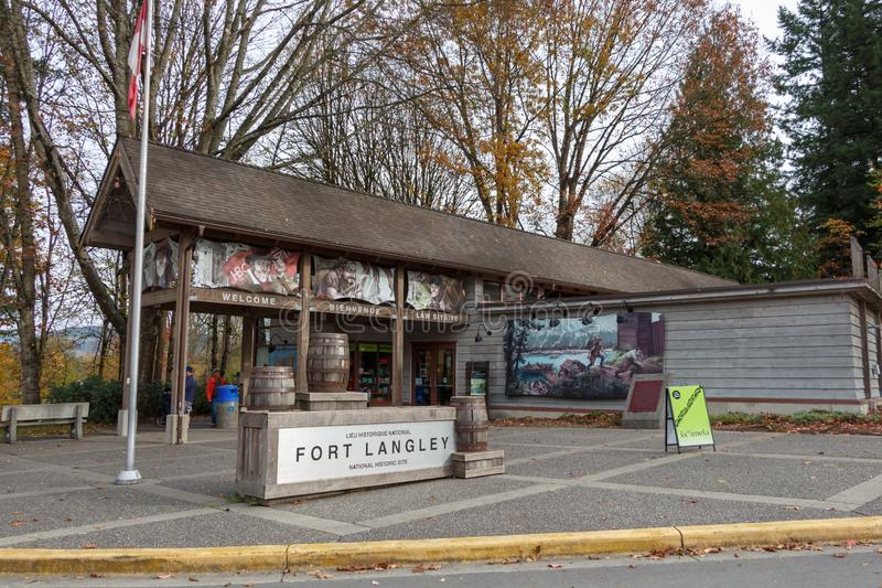 Fuerte Langley, Canadá - circa 2018 - fuerte Langley National Histor imagenes de archivo