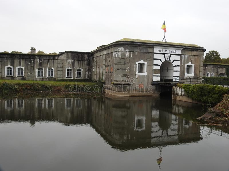 Fuerte Liezele - Puurs - Bélgica foto de archivo libre de regalías