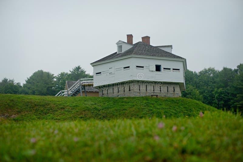 FUERTE MCCLARY, fuerte de los militares de Kittery Maine 1844 foto de archivo