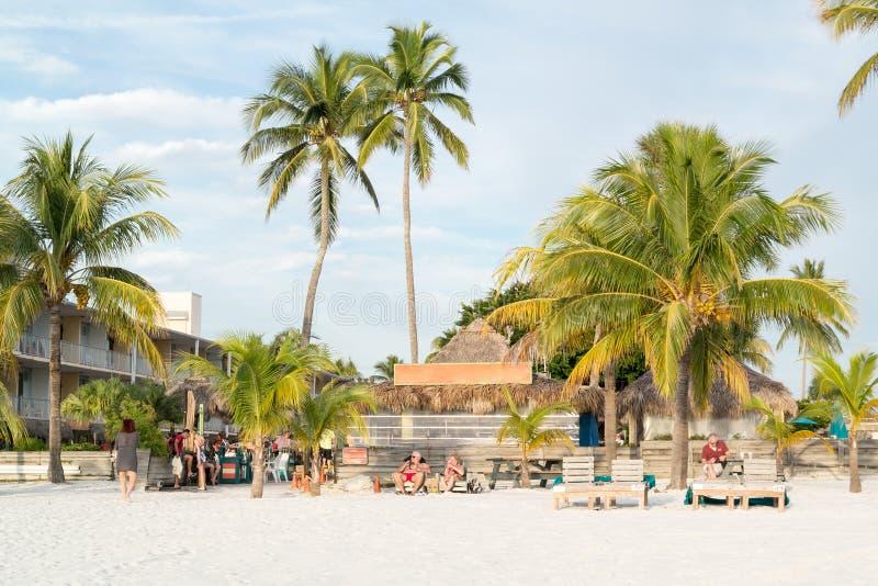 Fuerte Myers Beach en la Florida, los E.E.U.U. foto de archivo libre de regalías