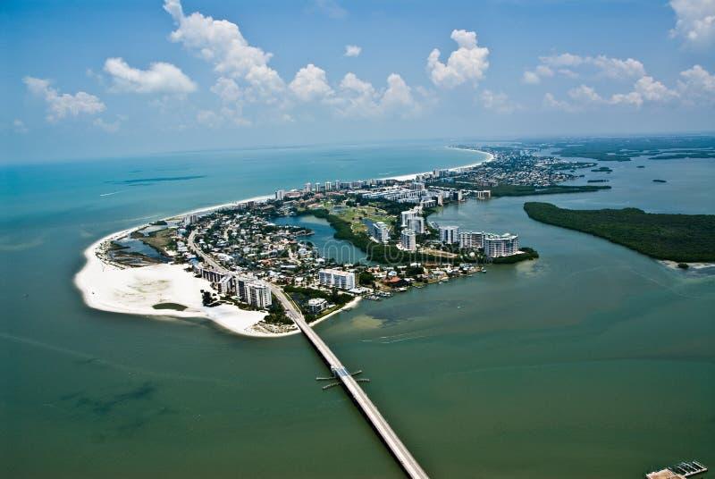 Fuerte Myers Florida Island Aerial Photo foto de archivo