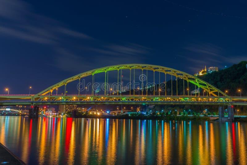 Fuerte Pitt Bridge, Pittsburgh, PA fotos de archivo