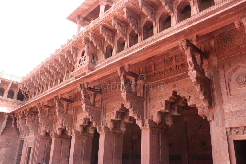 Fuerte rojo de Nueva Deli - detalles la India fotos de archivo