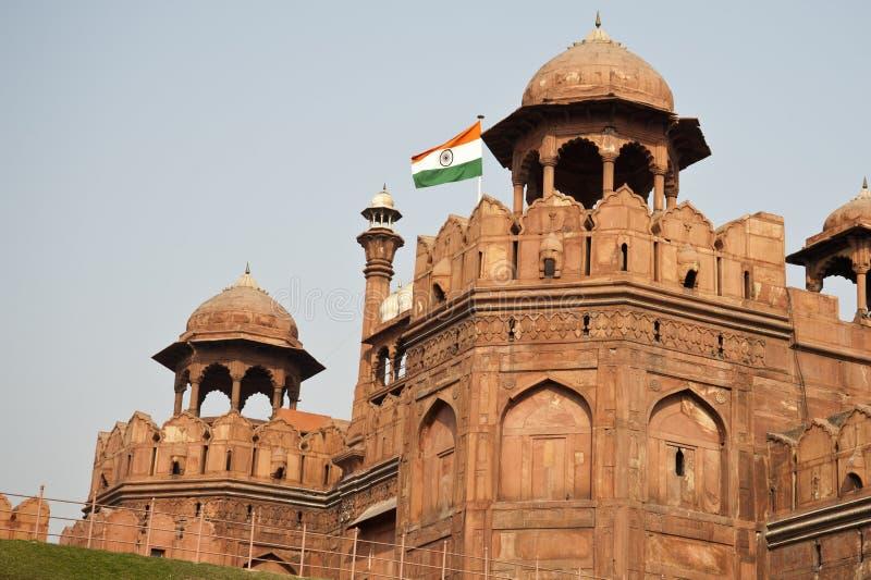 Fuerte rojo en Delhi, la India imagenes de archivo