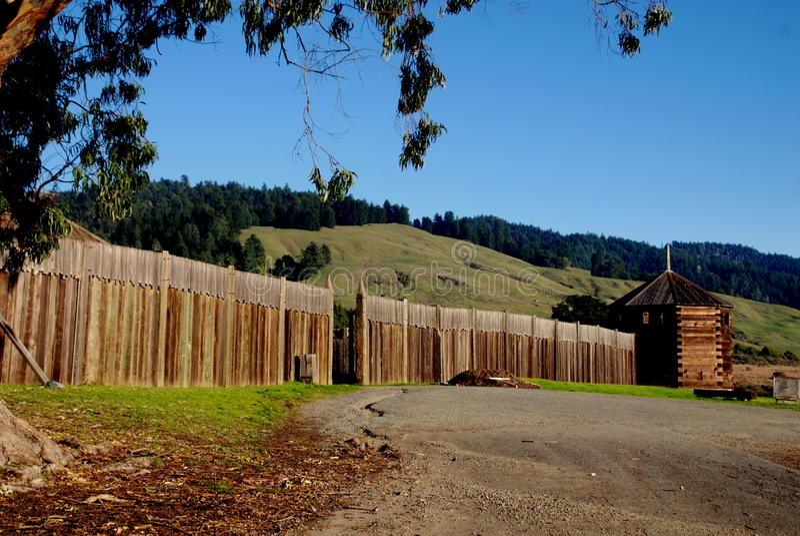 Fuerte Ross, CA: Fuerte histórico Ross imagenes de archivo