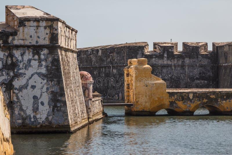 Fuerte San Juan de Ulua en la ciudad de Veracruz fotografía de archivo
