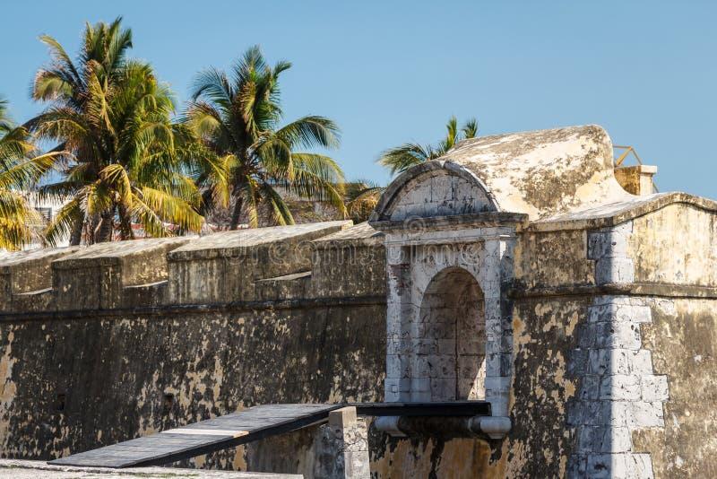 Fuerte San Juan de Ulua en la ciudad de Veracruz foto de archivo