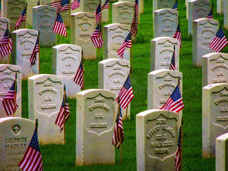 Fuerte Smith National Historic Cemetery 1 imágenes de archivo libres de regalías