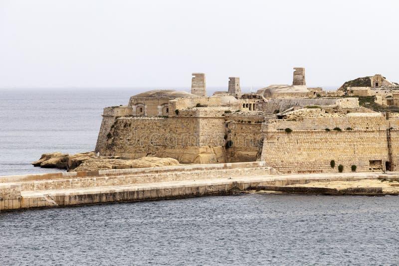 Fuerte St Elmo en la capital de Malta - La Valeta imagenes de archivo