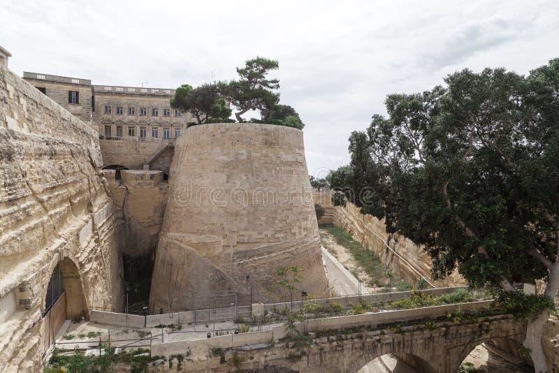 Fuerte St Elmo en la capital de Malta - La Valeta, Europa imagen de archivo