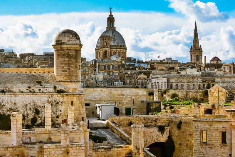 Fuerte St Elmo, La Valeta, Malta imagen de archivo libre de regalías